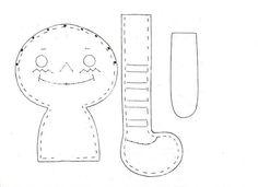 Coisinhas de Pano: TUTORIAL -Boneca ANNIE2