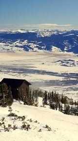 USA-  top of Rendezvous mountain, at Teton Village