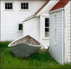Monhegan Island, Maine~ Watercolor waiting to happen. Is White A Color, Monhegan Island, Moonrise Kingdom, House By The Sea, Cottage Ideas, Wes Anderson, Lighthouses, Coastal Living, Cape Cod