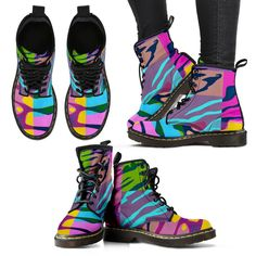 Must see Multicolor Zebra Print Women's Boots check it out here [product-link]