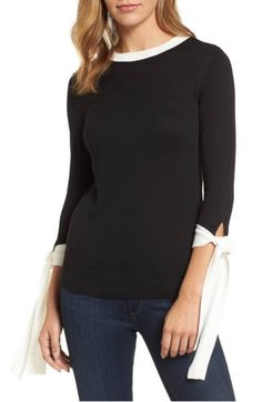 Halogen(R) Tie Sleeve Crewneck Sweater (Regular & Petite) Quoi Porter, Nordstrom Sale, Petite Outfits, Petite Clothes, Pulls, Fit Women, Casual, Nice Dresses, Going Out