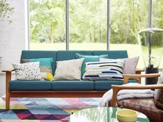 The Esprit Online-Shop offers a large selection of high quality fashions for men, women and children as well as the latest fashion accessories and furnishings. Outdoor Sofa, Outdoor Furniture, Outdoor Decor, Home And Living, Living Room, Tapis Design, Retro, Home Collections, Decoration