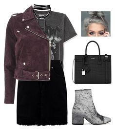 """""""Sans titre #1340"""" by frenchystyle ❤ liked on Polyvore featuring Aéropostale, Boohoo, OBEY Clothing and Yves Saint Laurent"""