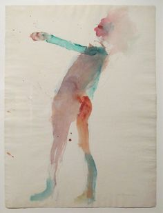 Standing Woman, 1961./Watercolor on paper (1928-2010) Palm Springs Art Museum /Artist: Nathan Oliveira