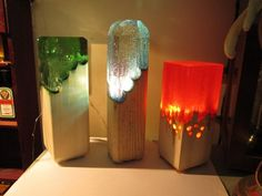 Wood and Resin Lamps! : crafts Wood and Resin Lamps! : crafts Wood and Resin Lamps! : crafts Wood an Resin In Wood, Resin Art, Diy Arts And Crafts, Home Crafts, Unique Night Lights, Alcohol Ink Crafts, Resin Furniture, Steampunk Lamp, Wood Lamps