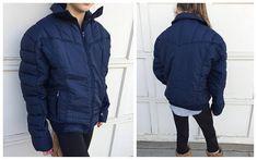 70's Roffe Hypo Allergenic Skiwear Ski Jacket  Navy Blue