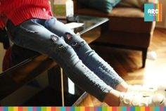 """Get this ultra """"cool cat"""" look with these skinny jeans for girls. Available in ages 3 to 7 years old. Buy now! 7 Year Olds, Cool Cats, Cool Stuff, Stuff To Buy, Skinny Jeans, Girls, Collection, Toddler Girls, Daughters"""
