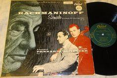 Leonard Pennario/Joseph Schuster~Rachmaninoff Sonata in G Minor~Piano & Cello LP Vinyl Record