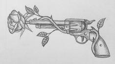 Badass Drawings, Cool Art Drawings, Pencil Art Drawings, Art Drawings Sketches, Tattoo Sketches, Hipster Drawings, Tatuagem Guns N Roses, Dibujos Percy Jackson, Rose Drawing Tattoo