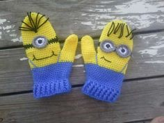 CROCHET PATTERN Minion Mittens CROCHET Pattern by uniquelymore
