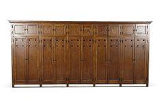 1930s Oversize School Locker Unit   on OneKingsLane.com 1930s overs, schools, locker unitsup, lockers, school spirit, overs school, school locker