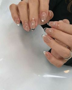 Swag Nails, My Nails, Gold Tip Nails, Clear Acrylic Nails, Clear Nail Polish, Fire Nails, Minimalist Nails, Manicure E Pedicure, Dream Nails