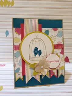Flock Together - Stampin' Up!   stamp. craft. pin.