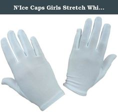 N'Ice Caps Girls Stretch White Special Occasion Parade Gloves (1-2yrs). N'Ice Caps TM girls white nylon stretch glove for many special occasions. Color: white. Available in 4 sizes: One size fits 1-3yrs, 0ne size fits 4-7yrs, one size fits 8-12yrs, one size fits 13-15yrs.
