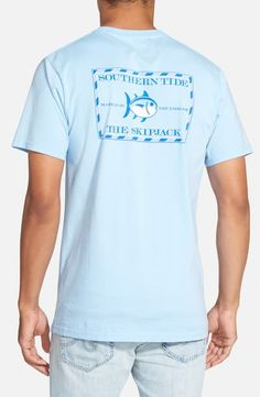 Southern Tide Short Sleeve Skipjack T-shirt In True Blue T Shorts, Southern Tide, Short Sleeves, Nordstrom, Mens Fashion, Mens Tops, Cotton, Shopping, Clothes