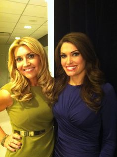 On the set of Hannity at Fox News Studios w/ Kimberly Guilfoyle #AmilyaFoxNews