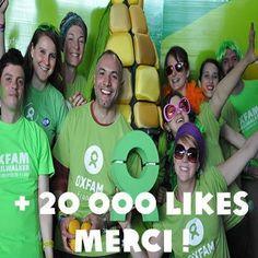 Merci aux 20 000 personnes qui aiment notre page sur Facebook! Si vous n'en faites pas partie, venez nous rejoindre!