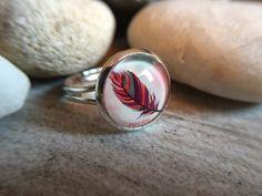 """Ringe - Glasperlen-Ring """"Feder"""" - ein Designerstück von Soulmate-Works bei DaWanda"""