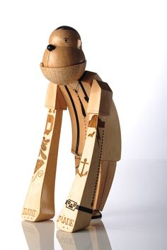 Beautiful Wooden Designer Toy, 3-D Character by Rowan Toselli - Cape Town, South Africa