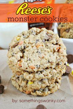 #Reeses Monster Cookies | www.somethingswanky.com