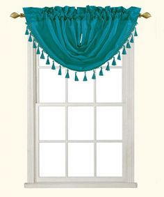 Look what I found on #zulily! Teal Ashley Waterfall Tassel Valance - Set of Two #zulilyfinds