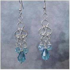 Chain Maille Dangle Earrings   JewelryLessons.com
