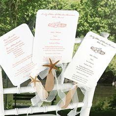 Program Fans for Outdoor Weddings!