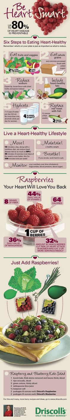 Did you know up to 80% of heart disease is preventable? February is Heart Health Awareness Month. Celebrate with Driscoll's #raspberries, a nutritious, versatile and delicious #berry.