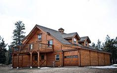 Colorado horse barn and living quarters