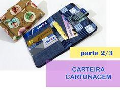 CARTEIRA EM CARTONAGEM - Passo a Passo 2/3