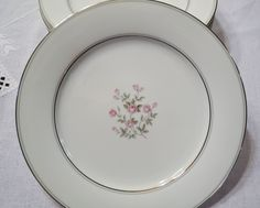 Vintage Noritake Stanton Dinner Plate Set of 8 Pink Roses Floral Platinum Gray Rim 5407 Japan Replacement PanchosPorch Dinner Plate Sets, Dinner Plates, Platinum Grey, Noritake, Vintage China, Pink Roses, Tableware, Floral, Mall