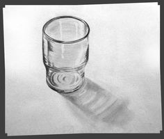 Empty Glass. Pencil On Paper