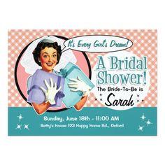 8c5ac8d5b9a 32 Best Retro Bridal Shower Invitations for the Retro Bride images ...