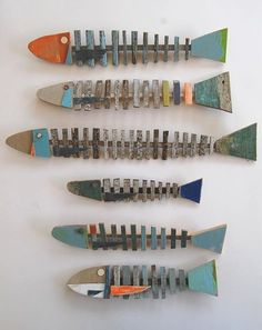 wood fish from Holts wood Herringbone Deco can also be used as a key. Recycled wood fish from Holts wood Herringbone Deco can also be used as a key. Recycled wood fish from Holts wood Herringbone Deco can also be used as a key. Deco Marine, Fish Wall Decor, Fish Wall Art, Driftwood Crafts, Driftwood Fish, Painted Driftwood, Painted Wood, Beach Crafts, Fish Crafts