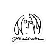 "The Beatles John Lennon vynil car sticker 5"" x 5"" (£3.81) ❤ liked on Polyvore featuring home, home decor, office accessories, car stickers, magnet stickers, car office accessories and car magnets"