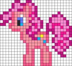 Billedresultat for pinkie pie hama beads Melty Bead Patterns, Kandi Patterns, Perler Patterns, Beading Patterns, Hama Beads, Perler Bead Art, Fuse Beads, Beaded Cross Stitch, Cross Stitch Embroidery
