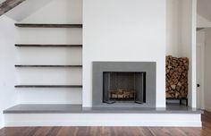 Victorian Fireplace, Custom Fireplace, White Fireplace, Fireplace Hearth, Modern Fireplace, Fireplace Surrounds, Fireplaces, Fireplace Ideas, Brick Fireplace Decor