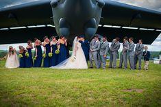Megan Rose Photography, Megan rose Photo, MRP, Military Wedding, Air Force Wife, Air Force life, plane photo, dark blue dresses, dark blue bridesmaids dresses