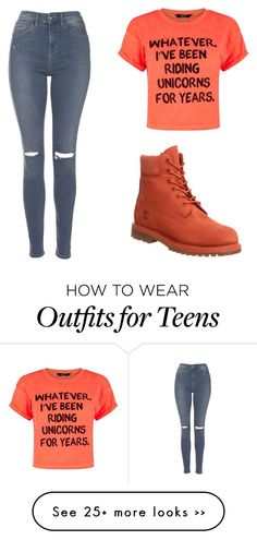 """Untitled #14"" by khayaash on Polyvore featuring Topshop and Timberland"