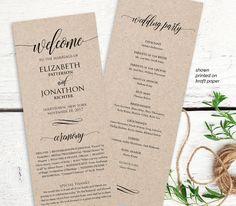 Wedding Program Printable Order of Service by MintyPaperieShop