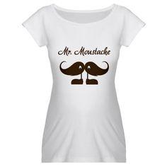 Mr. Moustache Maternity T-Shirt