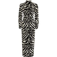 Alessandra Rich Crystal-embellished zebra-print velvet gown (122.820 RUB) ❤ liked on Polyvore featuring dresses, gowns, velvet, slimming dresses, polka dot dress, heart dress, lily dress and glamorous evening dresses