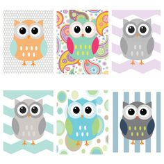 Owl Nursery Woodland Prints Decor Owls Www Etsy Ljbrodock