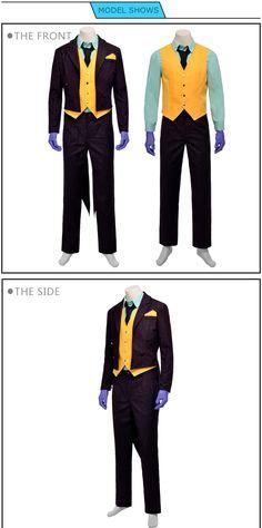 Quality Batman Joker Suit Arkham Asylum Joker Cosplay Costume Joker Cosplay Costume, Anime Costumes, Movie Costumes, Joker Suit, Batman Arkham Asylum, Lolita Dress, Costume Design, Harley Quinn, Pants