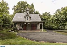 """""""Edgecumbe"""", designed by Samuel Sloan. Built in 1864 in Philadelphia, PA. Carriage House Garage, Philadelphia Pa, Sheds, Barns, Home And Family, Cottage, Houses, Cabin, House Styles"""