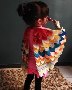 These bird wings are so cute and look really easy to make!