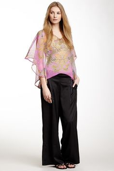 Solid Woven Palazzo Pant by Classique on @HauteLook Why would anyone want to look like they're wearing pants that they wore before they lost 100lbs?