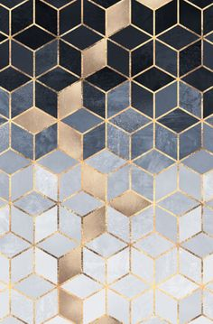 Soft Blue Gradient Cubes