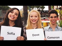 Have you ever wondered who was the prankster on the set of Descendants? Watch as Dove Cameron, Cameron Boyce, Boo Boo Stewart, an. Descendants Wicked World, Disney Channel Descendants, Descendants Cast, Sofia Carson, Cameron Boyce, Dove Cameron, Kenny Ortega, China Anne Mcclain, Disney Music