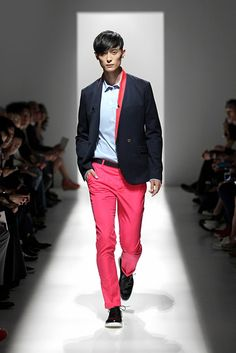 Pierre Balmain SS2013 - NYFW: Pink & Navy